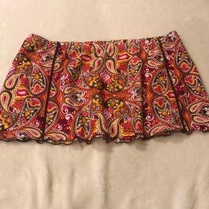 Athleta Orange Paisley Print Skirt - Size Medium